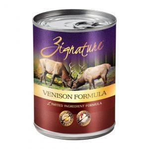 Zignature Dog LID GF Canned 13 oz Venison
