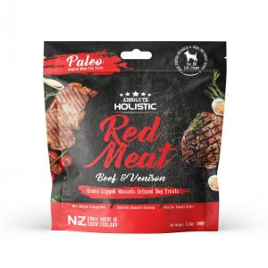 Absolute Holistic Air Dried Treats 100g – Red Meat Beef & Venison