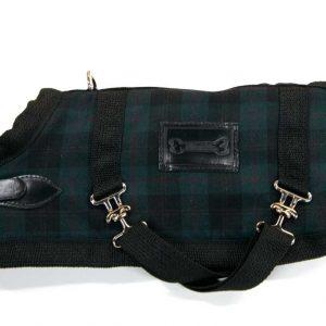 Green-Tartan-horse-blanket-coat