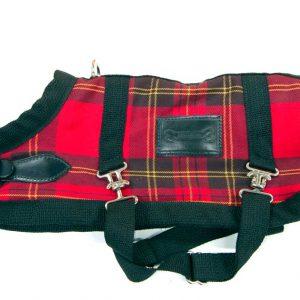 Red-Tartan-horse-blanket-coat