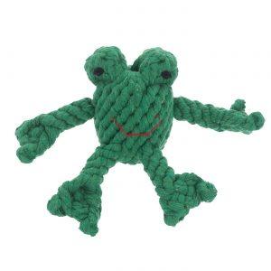 JB Rope Toy Flip the Frog – Small