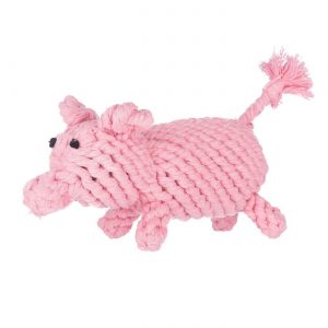 Jax & Bones Penny the Pig Rope Toy – Small