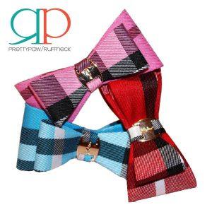 pretty-paw-small-plaid-bow-tie